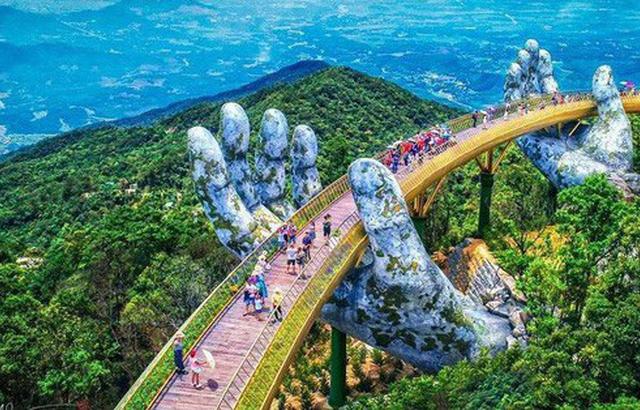 Discover The Gold Bridge In Danang City Photos