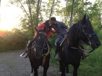 Niagara Falls Sunset Horseback Riding Photos