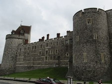 Outside Walls Of Windsor Castle - London