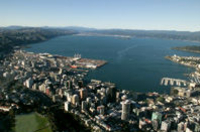 Wellington City Panorama Helicopter Flight Photos